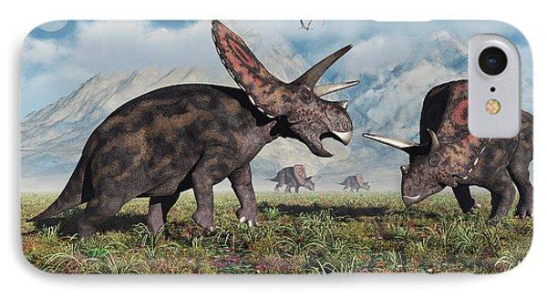 Torosaurus Dinosaurs During Earths IPhone Case