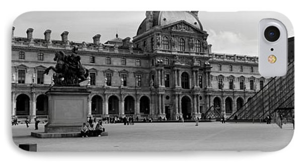 Tourists In The Courtyard Of A Museum IPhone Case by Panoramic Images