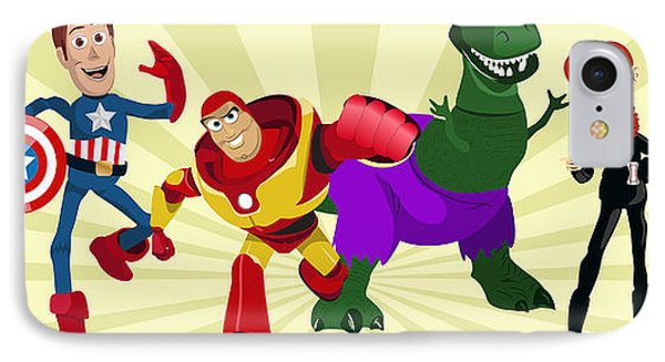 Toy Story Avengers Phone Case by Lisa Leeman