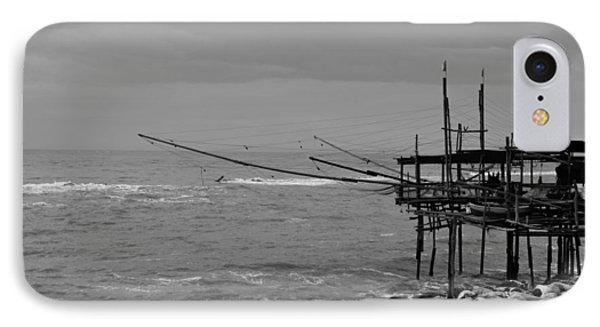 Trabocco On The Coast Of Italy  IPhone Case by Andrea Mazzocchetti
