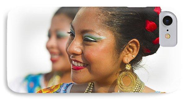 Traditional Ethnic Dancers In Chiapas Mexico IPhone Case by David Smith