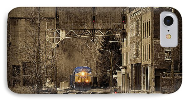 Train At Thurmond Wv Phone Case by Dan Friend