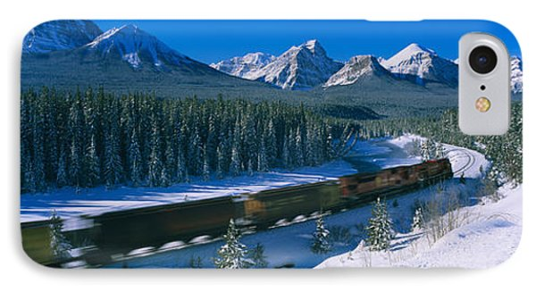 Train Moving On A Railroad Track IPhone Case