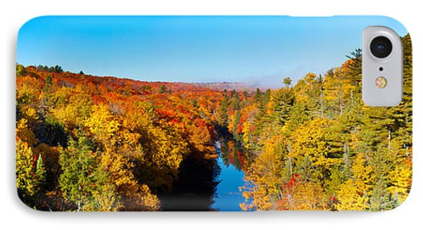 Marquette iPhone 7 Case - Trees In Autumn At Dead River by Panoramic Images