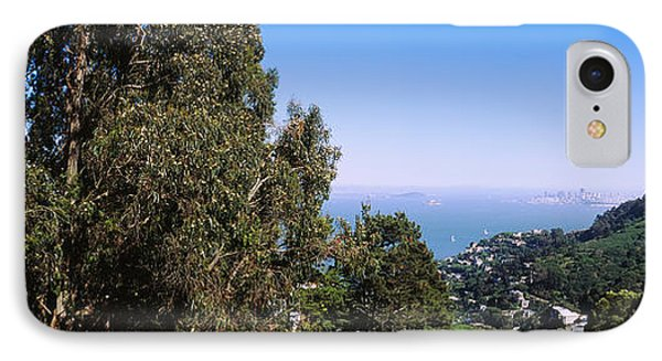 Trees On A Hill, Sausalito, San IPhone Case by Panoramic Images