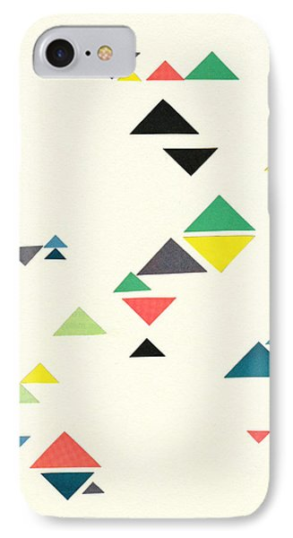 Triangles IPhone Case by Cassia Beck