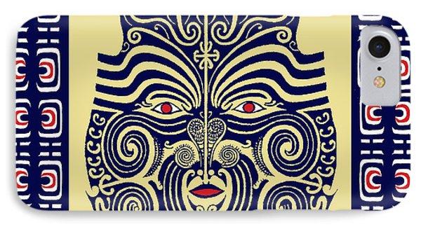 IPhone Case featuring the digital art Marquesas Tribal Spirits by Vagabond Folk Art - Virginia Vivier
