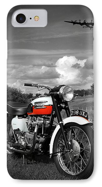 Triumph Bonneville T120 IPhone Case by Mark Rogan