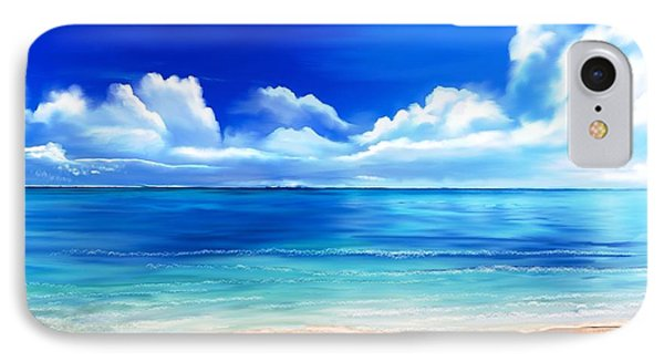IPhone Case featuring the digital art Tropical Blue by Anthony Fishburne