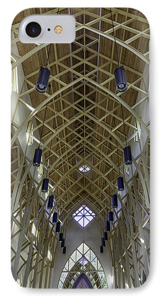 Trussed Arches Of Uf Chapel IPhone Case by Lynn Palmer