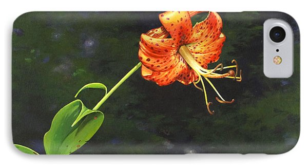 IPhone Case featuring the painting Turk's Cap by Bob  George