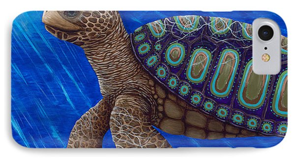 Turtle Painting Bomber Triptych 2 IPhone Case by Rebecca Parker