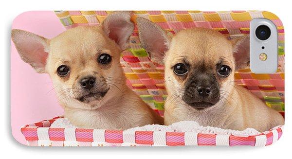 Two Chihuahuas Phone Case by Greg Cuddiford