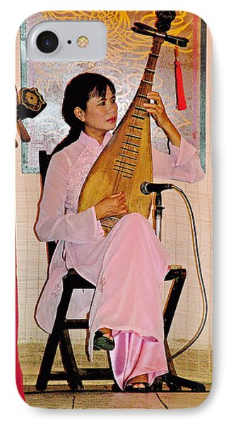 Two-stringed Lute Player At Wedding Ceremony Show In Binh Quoi Village-vietnam  IPhone Case by Ruth Hager