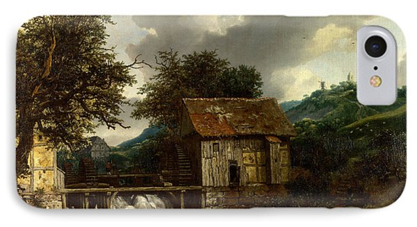 Two Watermills And An Open Sluice At Singraven IPhone Case by Celestial Images