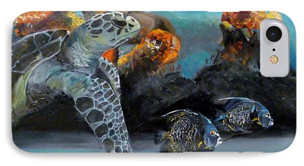 IPhone Case featuring the painting Underwater Beauty by Donna Tuten