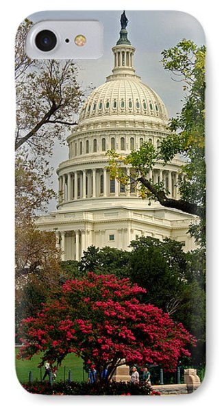 IPhone Case featuring the photograph United States Capitol by Suzanne Stout