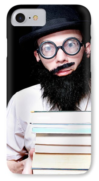 University Lecturer Holding Education Text Books IPhone Case