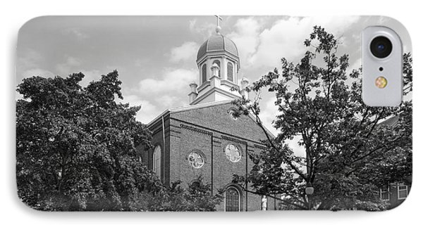 University Of Dayton Chapel IPhone Case by University Icons