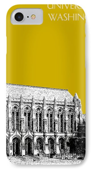 University Of Washington - Suzzallo Library - Gold IPhone Case by DB Artist