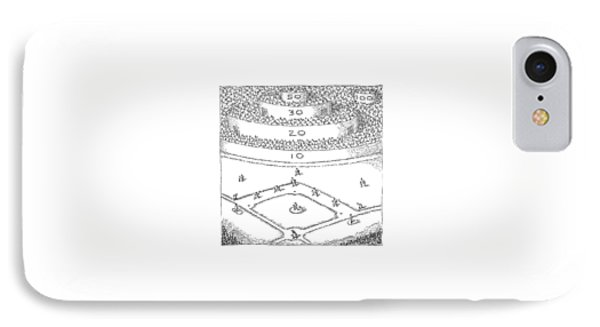 Captionless; Skeeball Baseball IPhone Case by John O'Brien