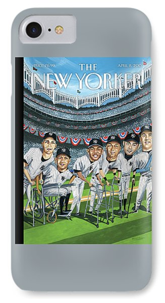 Yankee Stadium iPhone 7 Case - New Yorker April 8th, 2013 by Mark Ulriksen