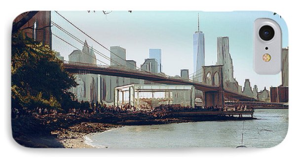 Upon The Brooklyn Shore IPhone Case by Natasha Marco