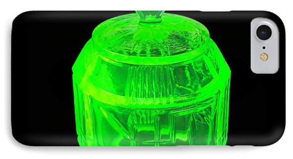 Uranium Glass Fluorescing IPhone Case by Science Photo Library