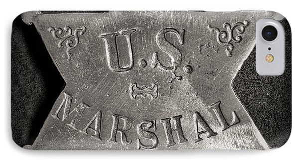 Us Marshal - Law Enforcement - Badge - Cowboy IPhone Case by Paul Ward
