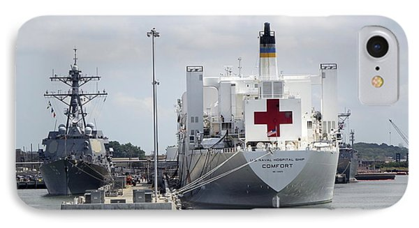 Us Naval Hospital Ship Comfort IPhone Case by Richard Rosenshein