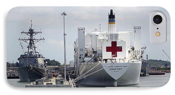 Us Naval Hospital Ship Comfort IPhone Case