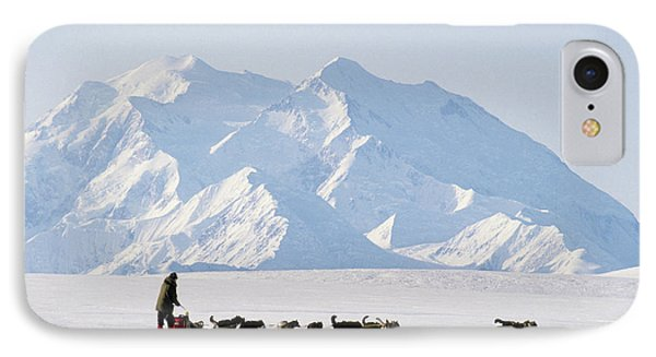 Usa, Alaska, Sled Dogs, Park Ranger IPhone Case by Gerry Reynolds