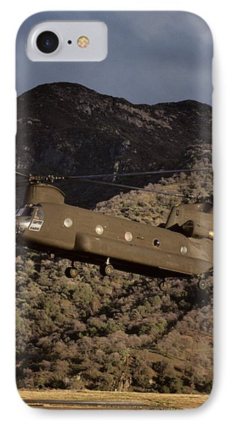 Helicopter iPhone 7 Case - Usa, California, Chinook Search by Gerry Reynolds