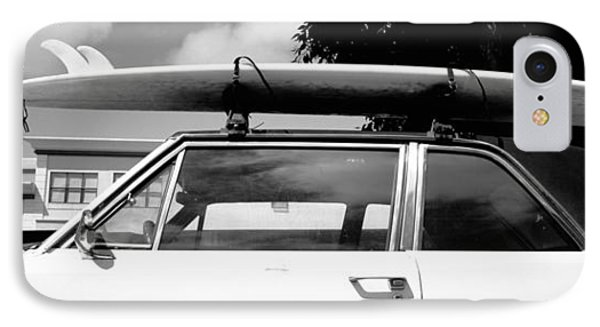 Usa, California, Surf Board On Roof IPhone Case
