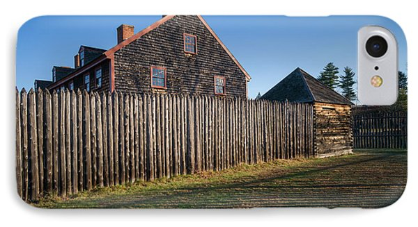 Usa, Maine, Augusta, Old Fort Western IPhone Case
