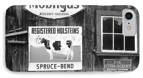 Usa, Vermont, Chester, Signs (large IPhone Case by Walter Bibikow