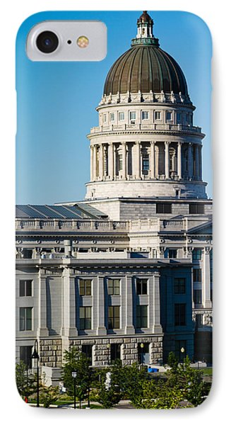 Utah State Capitol Building, Salt Lake IPhone Case by Panoramic Images