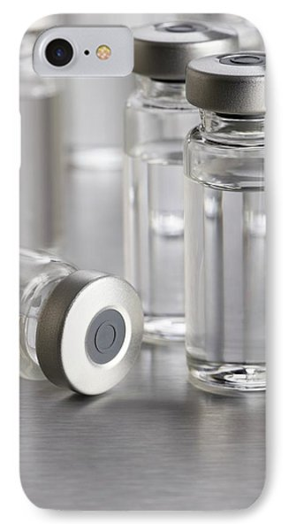 Vaccine Vials IPhone Case by Science Photo Library