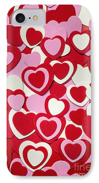 Valentines Day Hearts IPhone Case by Elena Elisseeva