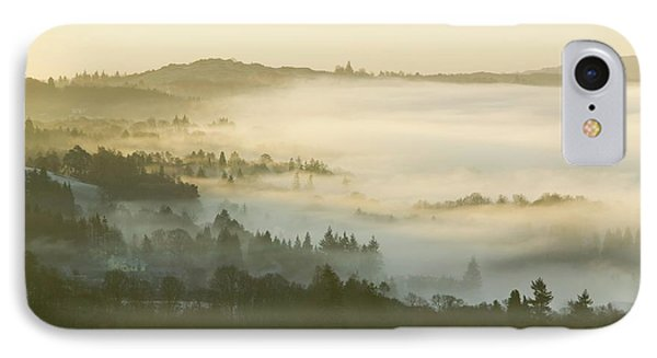 Valley Mist Over Windermere At Dawn IPhone Case