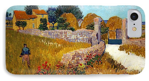 Van Gogh's Farmhouse In Provence IPhone Case by Cora Wandel