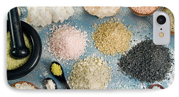 Various Types Of Salt IPhone Case by Nico Tondini
