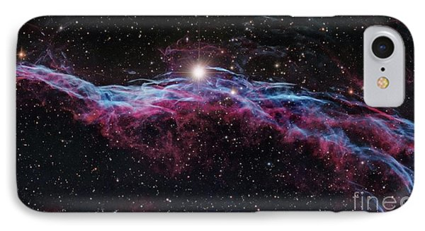 Veil Nebula (ic 1340), Optical Image IPhone Case by Robert Gendler