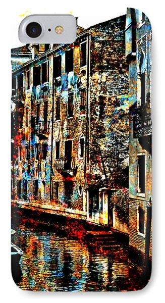 Venice In Grunge IPhone Case by Greg Sharpe