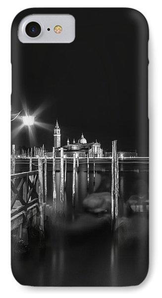 Venice San Giorgio Maggiore At Night Black And White IPhone Case
