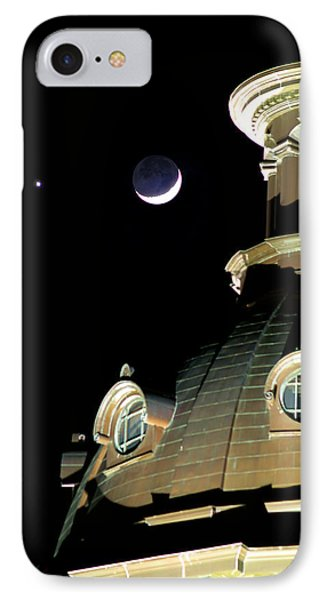 Venus And Crescent Moon-1 IPhone Case by Charles Hite