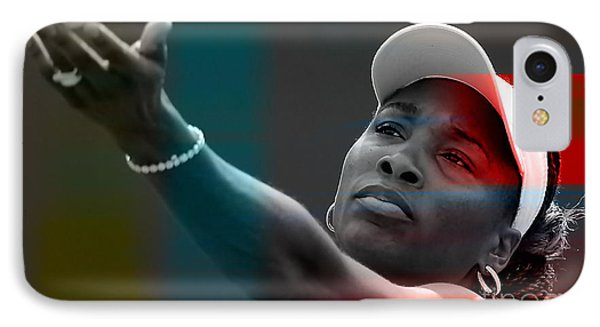 Venus Williams IPhone 7 Case by Marvin Blaine