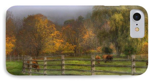 Vermont Farm In Autumn IPhone Case by Joann Vitali