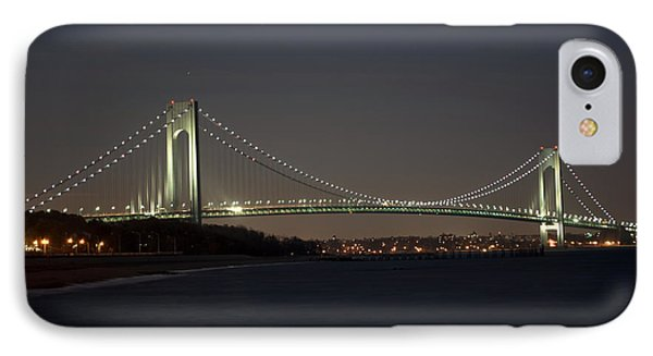 1 Verrazano Narrows Bridge At Twilight IPhone Case by Kenneth Cole