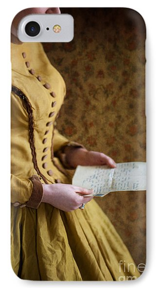 Victorian Woman Reading A Love Letter Phone Case by Lee Avison